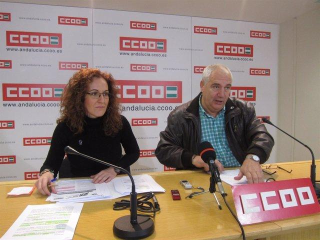 Francisco Carbonero, Y Secretaria De Empleo De CCOO-A, Nuria López