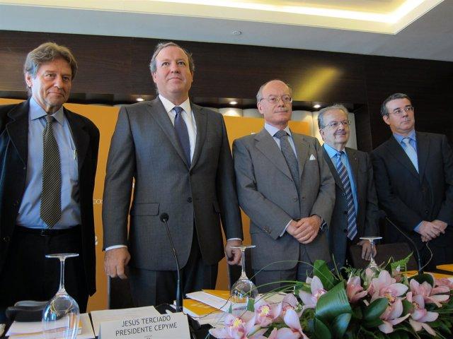 Presidente De Cepyme, Jesús Terciado, En La Presentación De Un Libro Del IEE