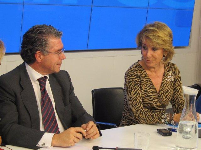 Granados Y Aguirre En El Comité De Dirección Del PP
