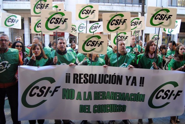 Protesta Del Sindicato CSIF-A En Sevilla