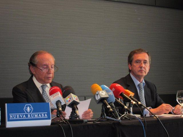 José María Ruiz-Mateos Junto A Su Exabogado, Joaquín Yvancos
