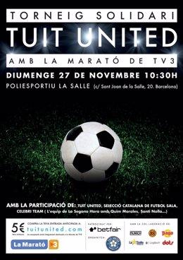 Cartel Del 'Torneo Solidario Tuit United'