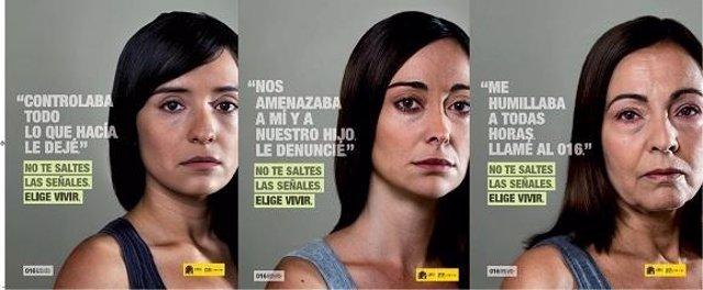 Carteles De La Nueva Campaña Contra La Violencia De Género