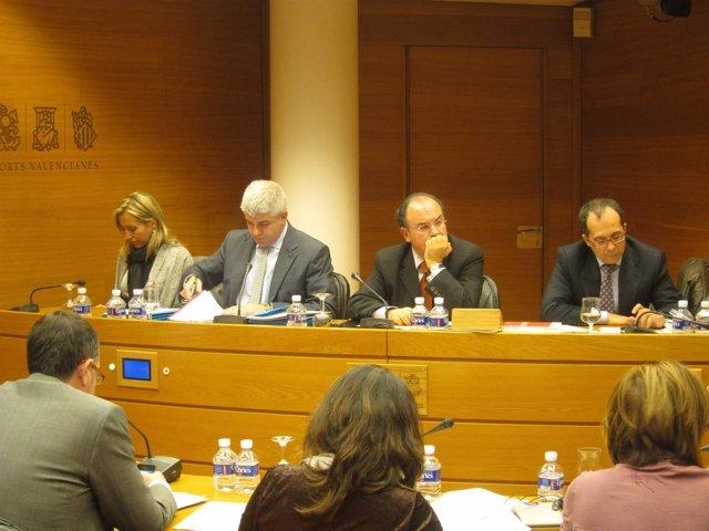López Jaraba Durante La Comisión En Les Corts