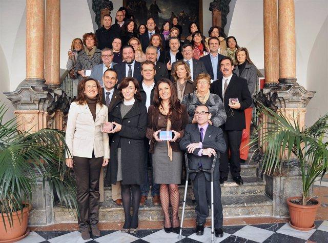 Ceballos (2ª Por Izda.) Con Los Galardonados