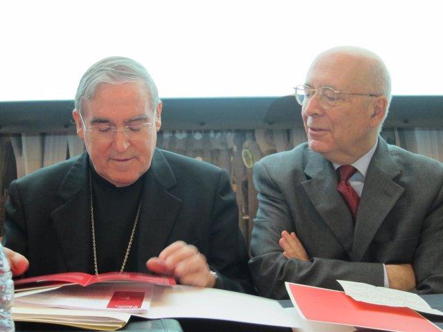 El cardenal Sistach al presentar en Barcelona la exposición sobre Gaudí en Roma