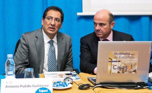 Antonio Pulido (Izquierda) Y Luis De Guindos (Derecha)