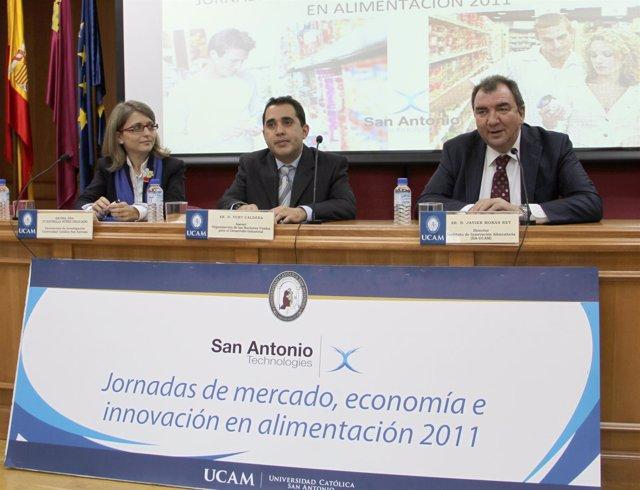 Núñez, Caldera Y Morán Durante El Evento