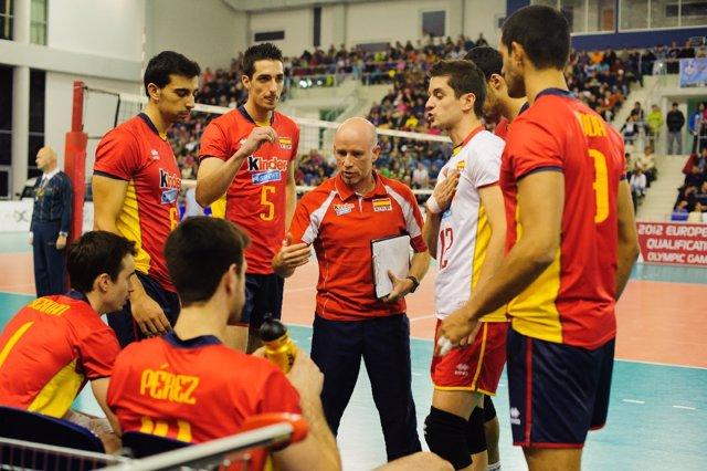 Selección Española De Voleibol Preolímpico, España-Eslovaquia