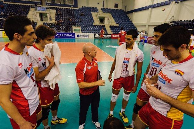 Selección Española De Voleibol Preolímpico, España-Austria