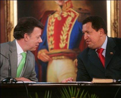 Venezuela/Colombia.- Santos y Chávez retoman hoy la agenda bilateral y podrían hablar de la guerrilla