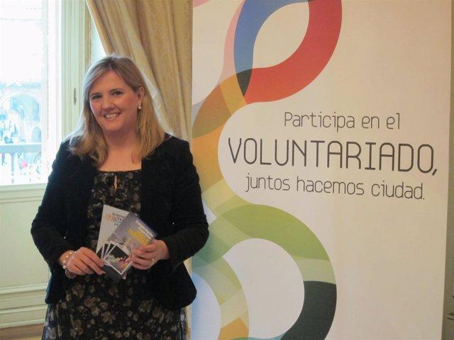 Clarisa Molina Durante La Presentación De Los Actos Del Voluntariado