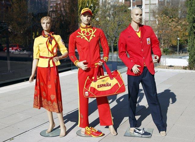 Equipación Oficial Del Equipo Español Para Los Juegos De Londres 2012