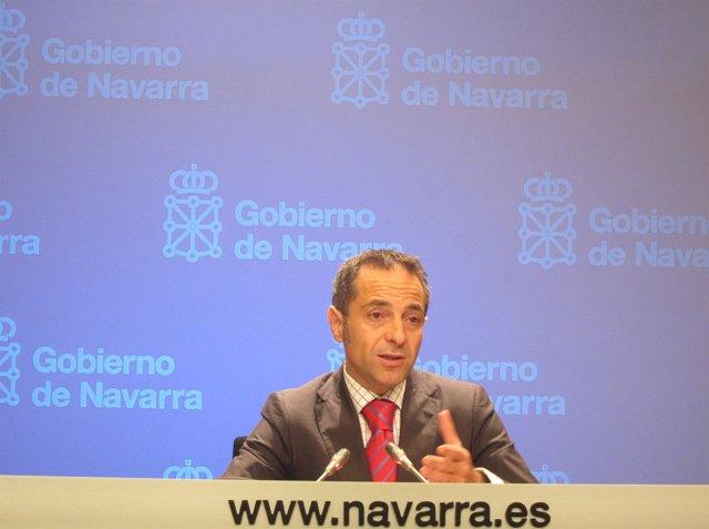 El Portavoz Del Gobierno De Navarra, Juan Luis Sánche De Muniáin.