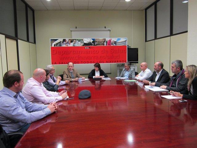 Reunión De Vera Con Los Alcaldes De Los Municipios Limítrofes Con La Rioja.