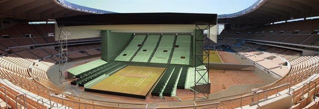 Cubierta De La Copa Davis En El Estadio De La Cartuja En Sevilla