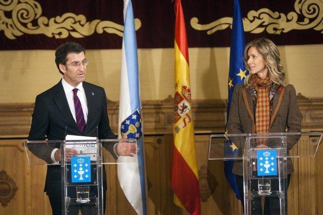 PAZO DE RAXOI16,00 h.-     O presidente da Xunta, acompañado polo conselleiro de
