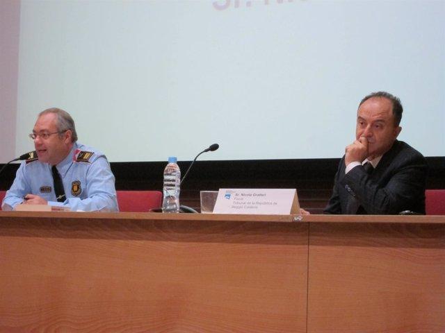El Comisario De Mossos Joan Figuera Y El Fiscal Italiano Nicola Gratteri