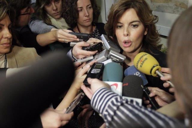 Portavoz Del Grupo Popular En El Congreso De Los Diputados, Soraya Sáenz De Sant