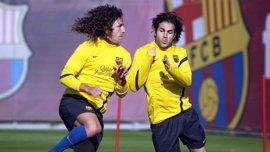 Fútbol.- El Barça se entrena con todos los disponibles excepto Adriano