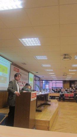 Javier López, En Un Seminario De CC.OO.