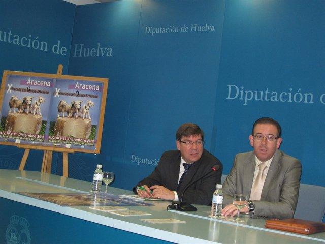 El Alcalde De Aracena, Manuel Guerra, Y El Delegado De Agricultura.