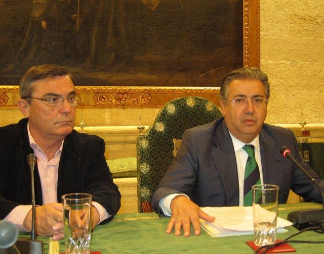 El Alcalde, Juan Ignacio Zoido, Junto Al Secretario General De CCOO-Sevilla