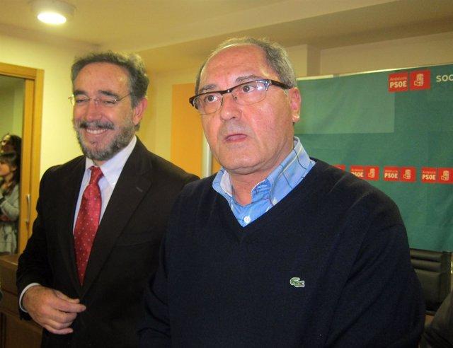 Felipe López Y Juan Cornejo, Vicepresidente Y Presidente De La Gestora Del PSOE.