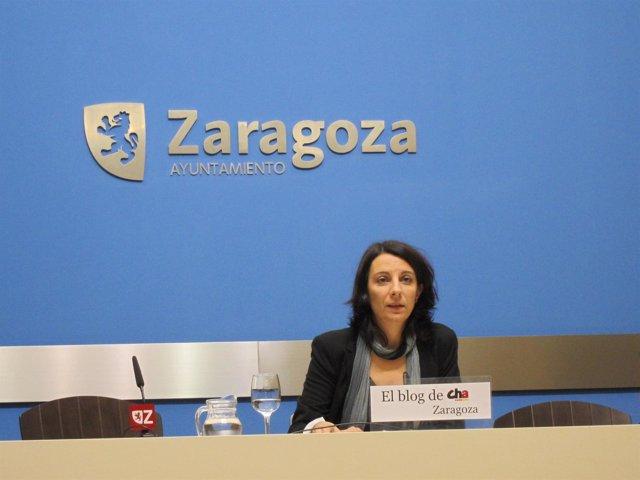 Leticia Crespo En La Sala De Prensa Del Ayuntamiento