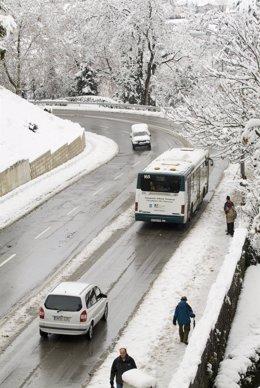 Nieve en Pamplona.