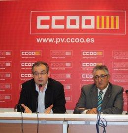 José María Martínez Y José Miguel Mandingorra, De Comfia CCOO.