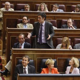 El diputado del PSOE Eduardo Madina en el Congreso