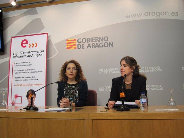 La Directora General De Nuevas Tecnologías, María A. Rincón, Y La Portavoz 'Red'