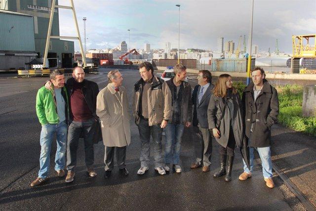El alcalde de A Coruña visita el rodaje de Invasor