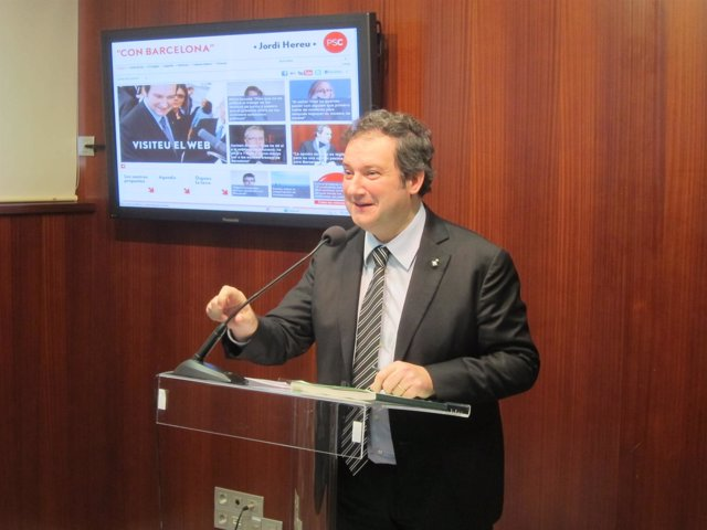 El Líder Del PSC En Barcelona, Jordi Hereu