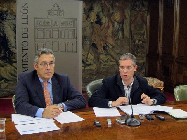 López Benito (D) Y Rajoy (I)