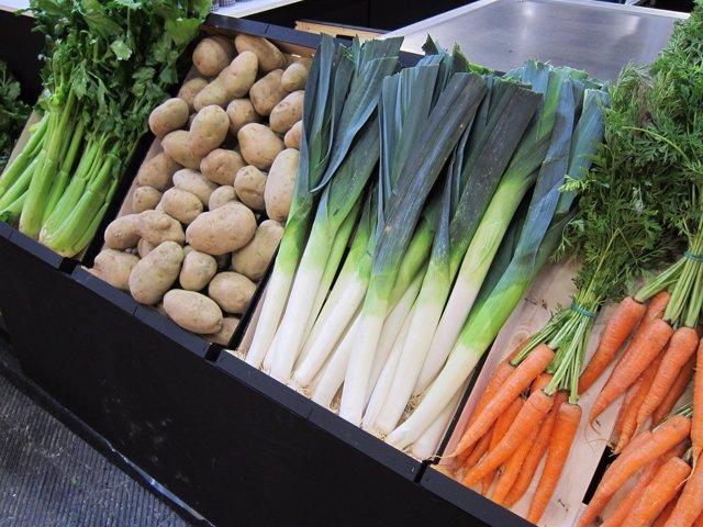 Verdura, Patatas, Puerros, Zanahorias, Apio