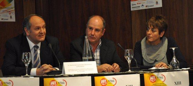 Javier Fernández, José Ramón Pontones Y María Jesús Cedrún
