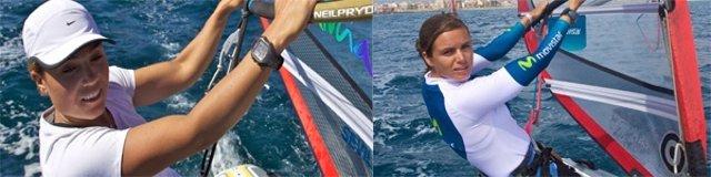 Las Windsurfistas Españolas Marina Alabau Y Blanca Manchón