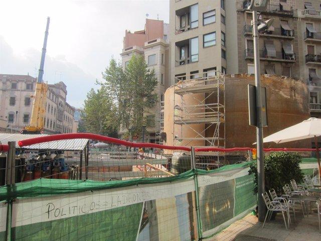 Pozo de extracción de la tuneladora Barcino