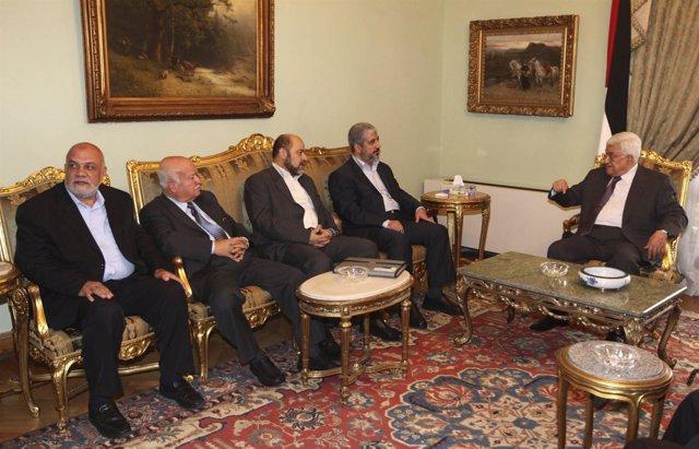 Mahmud Abbas Y Jaled Meshal