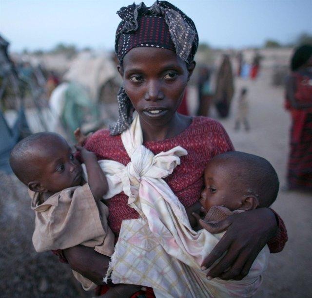 Niños somalís