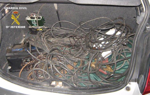 Cable Sustraido