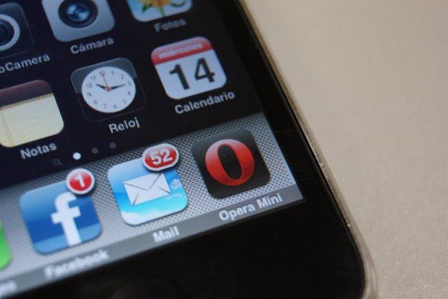 Navegador web para móvil Opera Mini en iPhone