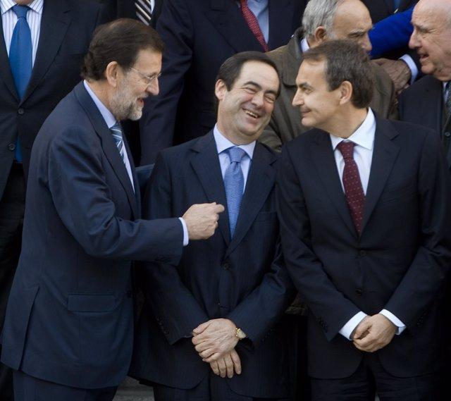 Rajoy, Bono y Zapatero en el aniversario del 23-F