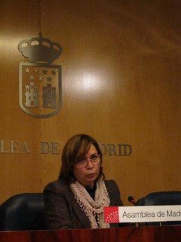 Eulalia Vaquero En Rueda De Prensa En La Asamblea De Madrid
