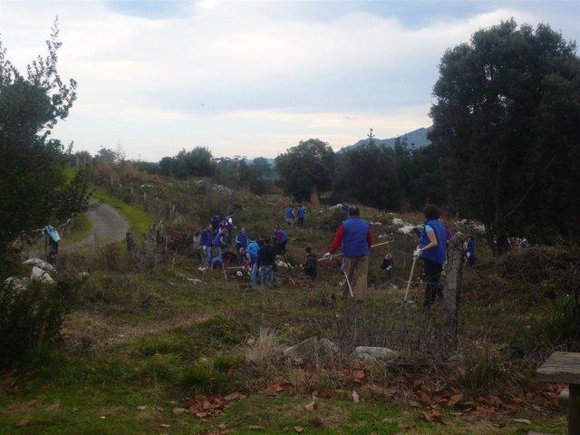 Voluntarios Limpian El Monte