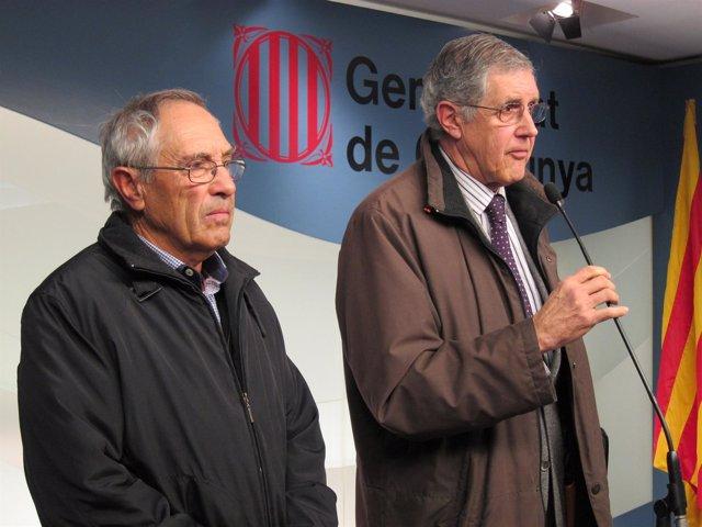 El Presidente De La Cooperativa De L'aldea J.F.Falcó Y El Abogado J.Fernández