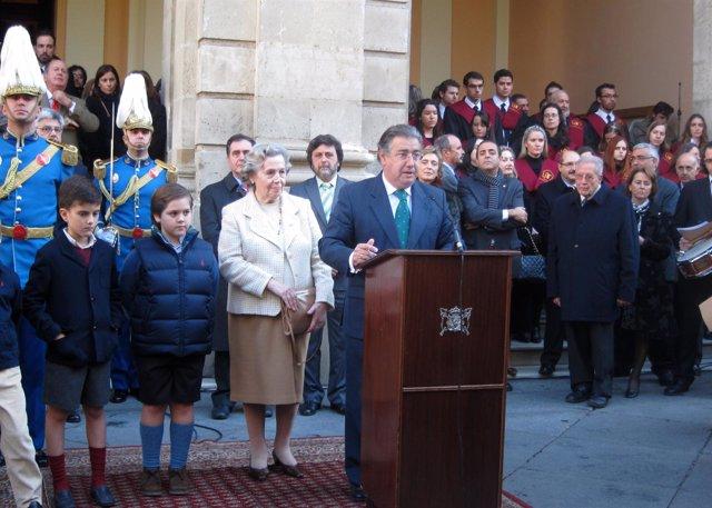 El Alcalde De Sevilla, Juan Ignacio Zoido, Durante El Acto