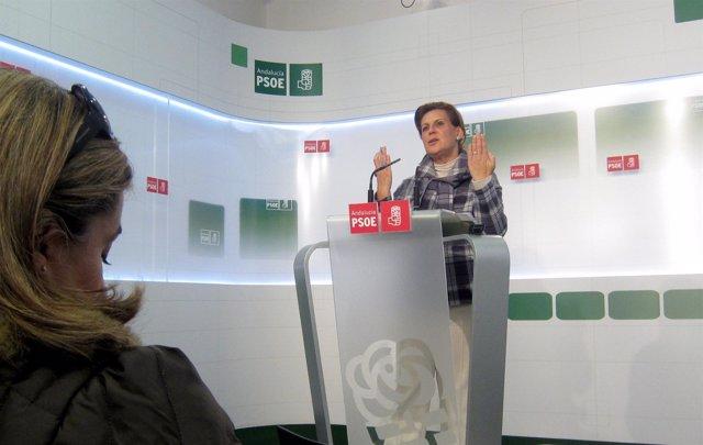 Rosa Torres, Presidenta Del PSOE-A, Hoy En Rueda De Prensa